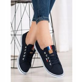 SHELOVET Navy sneakers navy blue 3