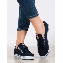 SHELOVET Navy sneakers navy blue 1