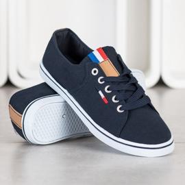 SHELOVET Navy sneakers navy blue 2