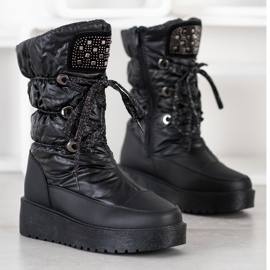 SHELOVET Stylish Snow Boots On The Platform black 1