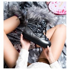 SHELOVET Snow Boots On The Platform silver grey 3