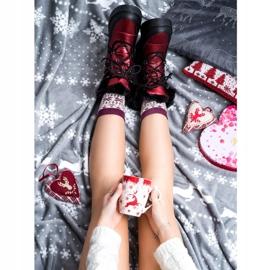 SHELOVET Snow Boots On The Platform black red 1