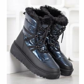 SHELOVET Snow Boots On The Platform black blue 2