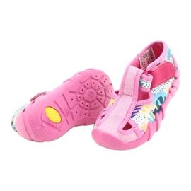 Befado children's shoes 190P097 blue pink silver yellow 4