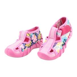 Befado children's shoes 190P097 blue pink silver yellow 3