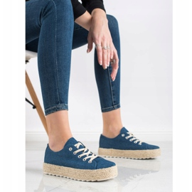 Kylie Sneakers On The Platform blue 3