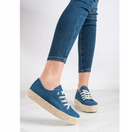 Kylie Sneakers On The Platform blue 4