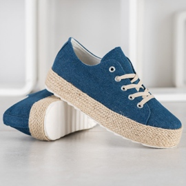 Kylie Sneakers On The Platform blue 1
