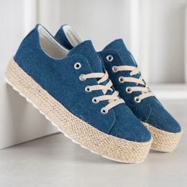 Kylie Sneakers On The Platform blue 2