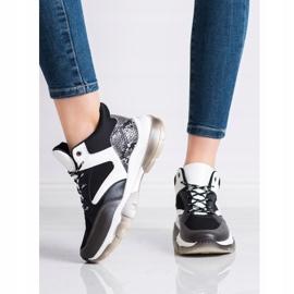 SHELOVET Casual Sneakers white black grey 2