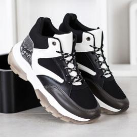 SHELOVET Casual Sneakers white black grey 3