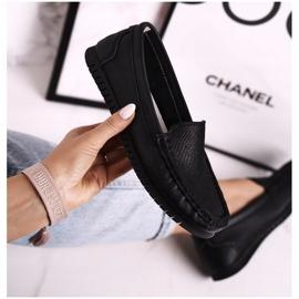 Women's Classic Leather Loafers S.Barski LR97630 Black 1