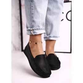 Women's Classic Leather Loafers S.Barski LR97630 Black 2