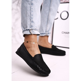 Women's Classic Leather Loafers S.Barski LR97630 Black 4