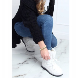 Women's white snow boots BY-1961 White 5