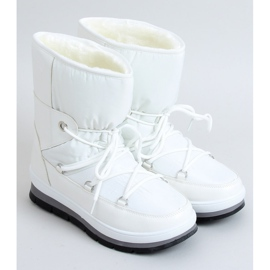 Women's white snow boots BY-1961 White 1