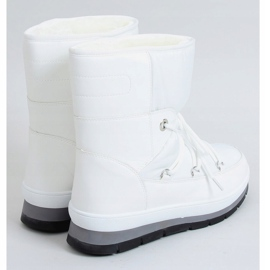 Women's white snow boots BY-1961 White 2
