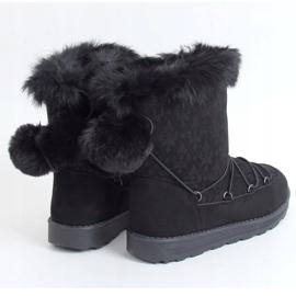 Black women's snow boots 259 Black 1
