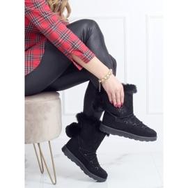 Black women's snow boots 259 Black 3