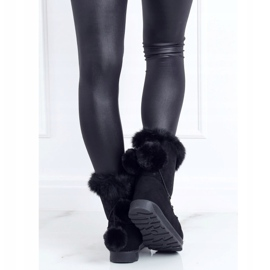 Black women's snow boots 259 Black 5