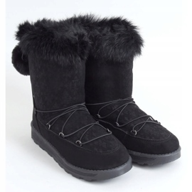 Black women's snow boots 259 Black 2