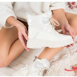 SHELOVET Warm sports snow boots white silver 2