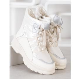 SHELOVET Warm sports snow boots white silver 3