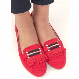 Red Women's loafers 88-381 Red 2