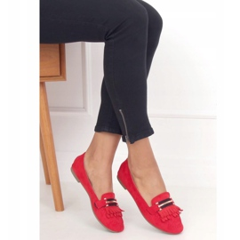 Red Women's loafers 88-381 Red 3