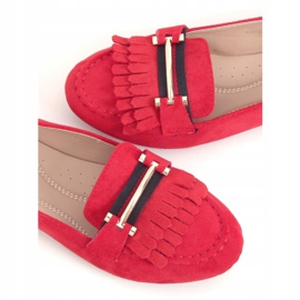 Red Women's loafers 88-381 Red 1