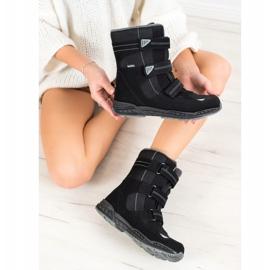 SHELOVET Snow boots. Velcro black 3