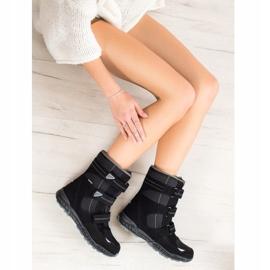 SHELOVET Snow boots. Velcro black 4