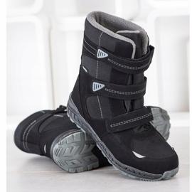 SHELOVET Snow boots. Velcro black 1
