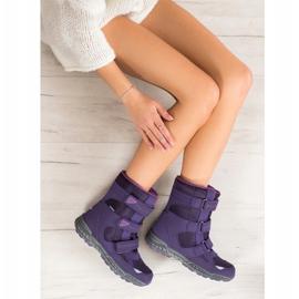 SHELOVET Snow boots. Velcro violet 1