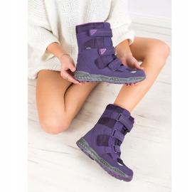 SHELOVET Snow boots. Velcro violet 4