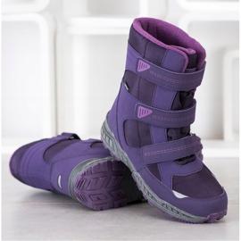 SHELOVET Snow boots. Velcro violet 2