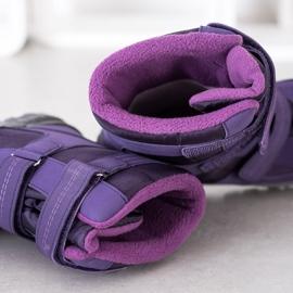 SHELOVET Snow boots. Velcro violet 3