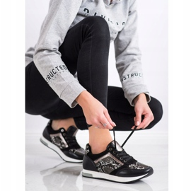 Kylie Fashionable Sneakers white black grey 3