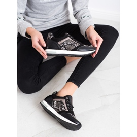 Kylie Fashionable Sneakers white black grey 1