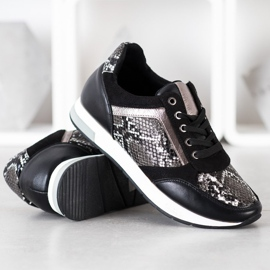 Kylie Fashionable Sneakers white black grey 2