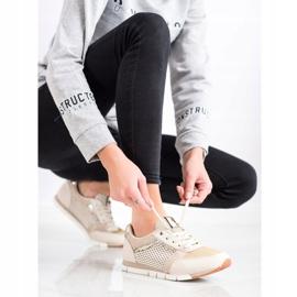 Kylie Openwork Sport Shoes beige golden 1