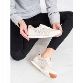 Kylie Openwork Sport Shoes beige golden 3