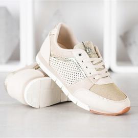 Kylie Openwork Sport Shoes beige golden 2