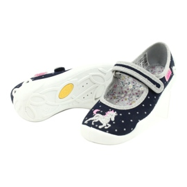 Befado children's shoes 114X414 navy grey 4