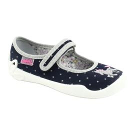 Befado children's shoes 114X414 navy grey 1