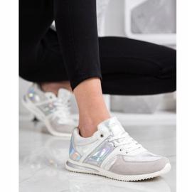 Goodin Stylish Sport Shoes white silver grey 1