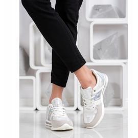 Goodin Stylish Sport Shoes white silver grey 2