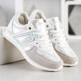 Goodin Stylish Sport Shoes white silver grey 3