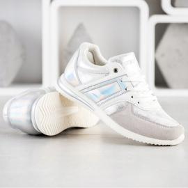 Goodin Stylish Sport Shoes white silver grey 4