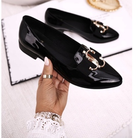 Women's Loafers Lordsy Patent Leather Black Nicole 2588 3